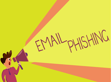 Handwriting text writing Email Phishing. Concept meaning Emails that may link to websites that distribute malware.