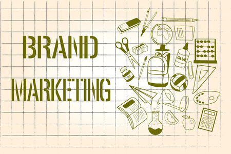 Word writing text Brand Marketing. Business concept for Creating awareness about products around the world. 写真素材