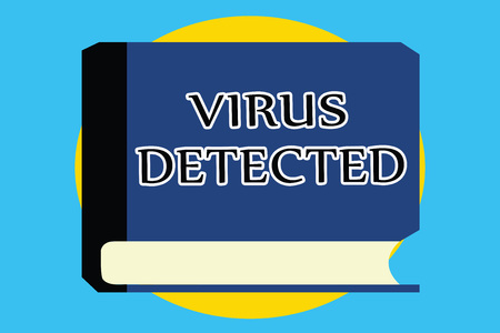 Text sign showing Virus Detected. Conceptual photo A computer program used to prevent and remove malware.