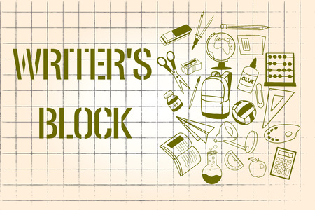 Word writing text Writer s is Block. Business concept for Condition of being unable to think of what to write. Stock Photo