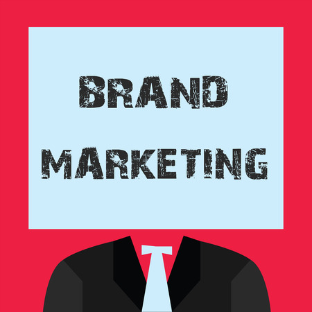 Word writing text Brand Marketing. Business concept for Creating awareness about products around the world. 写真素材 - 107631776