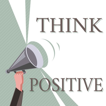 Writing note showing Think Positive. Business photo showcasing The tendency to be positive or optimistic in attitude. Standard-Bild