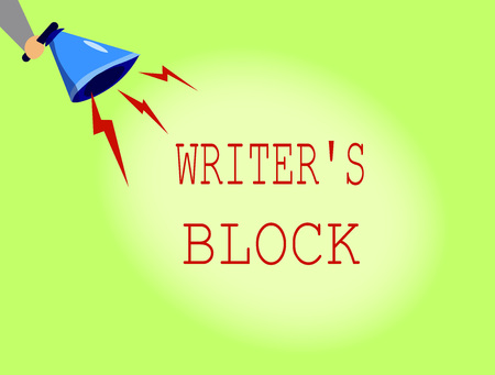 Conceptual hand writing showing Writer s is Block. Business photo showcasing Condition of being unable to think of what to write. Stok Fotoğraf