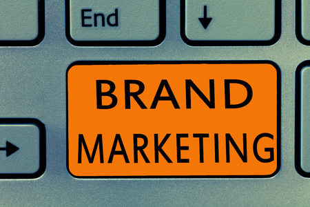 Conceptual hand writing showing Brand Marketing. Business photo text Creating awareness about products around the world.