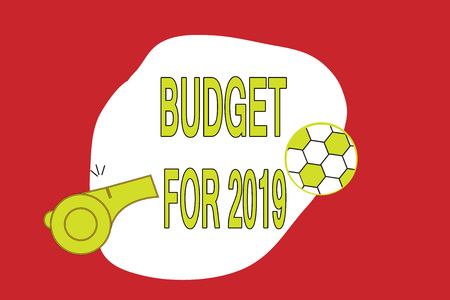 Text sign showing Budget For 2019. Conceptual photo An written estimates of income and expenditure for 2019. Stock fotó