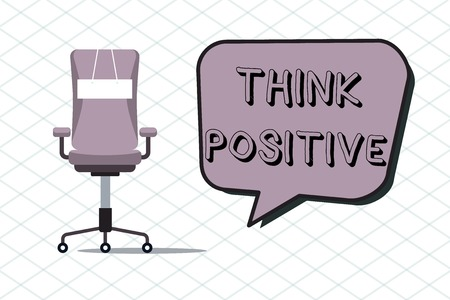 Handwriting text Think Positive. Concept meaning The tendency to be positive or optimistic in attitude. 写真素材