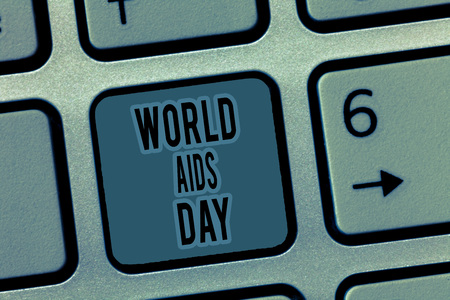 Handwriting text World Aids Day. Concept meaning 1st December dedicated to raising awareness of the AIDS. Archivio Fotografico