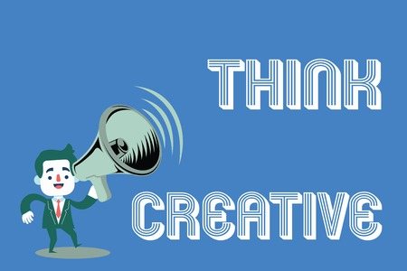 Word writing text Think Creative. Business concept for The ability to perceive patterns that are not obvious.