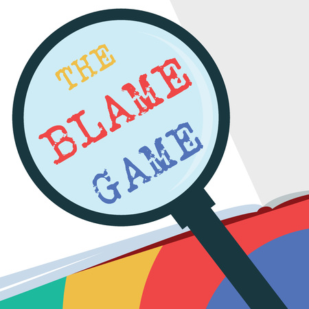 Text sign showing The Blame Game. Conceptual photo A situation when people attempt to blame one another. Stock fotó