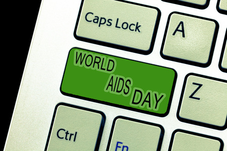 Text sign showing World Aids Day. Conceptual photo 1st December dedicated to raising awareness of the AIDS.