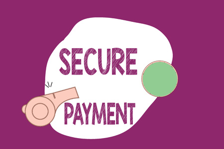 Handwriting text writing Secure Payment. Concept meaning Security of Payment refers to ensure of paid even in dispute. Archivio Fotografico
