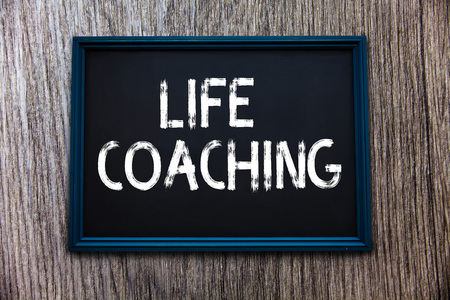 Handwriting text Life Coaching. Concept meaning Improve Lives by Challenges Encourages us in our Careers.