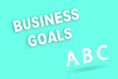 Text sign showing Business Goals. Conceptual photo Expectation to accomplish over a specific period of time. Stock Photo