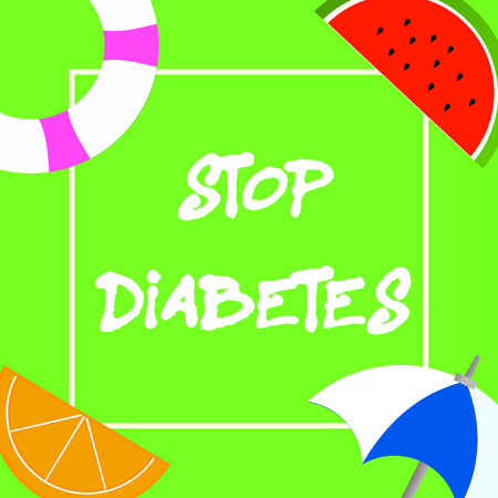 Text sign showing Stop Diabetes. Conceptual photo Blood Sugar Level is higher than normal Inject Insulin.