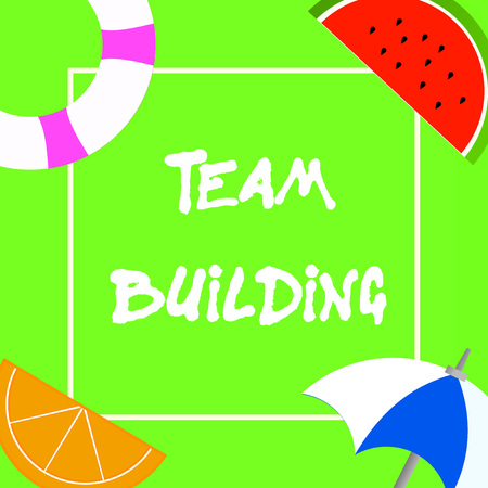Text sign showing Team Building. Conceptual photo Types of activities used to enhance social relations. Stock Photo