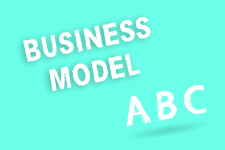 Text sign showing Business Model. Conceptual photo Identifying revenue sources Plan on how to make profit.