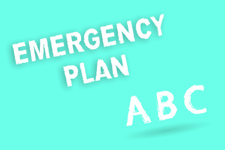 Text sign showing Emergency Plan. Conceptual photo Procedures for response to major emergencies Be prepared.