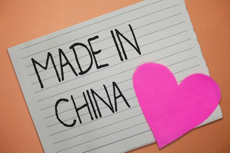 Word writing text Made In China. Business concept for Wholesale Industry Marketplace Global Trade Asian Commerce.