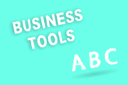 Text sign showing Business Tools. Conceptual photo Marketing Methodologies Processes and Technologies use. Stock Photo