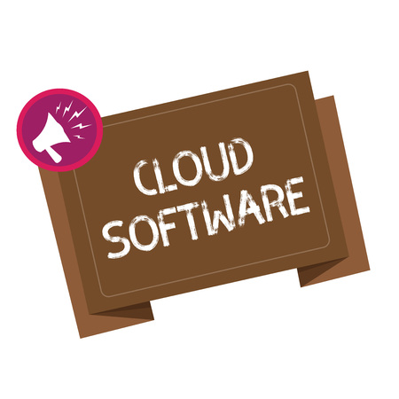 Conceptual hand writing showing Cloud Software. Business photo showcasing Programs used in Storing Accessing data over the internet. Stock fotó