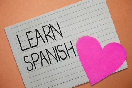 Word writing text Learn Spanish. Business concept for Translation Language in Spain Vocabulary Dialect Speech. Stock Photo