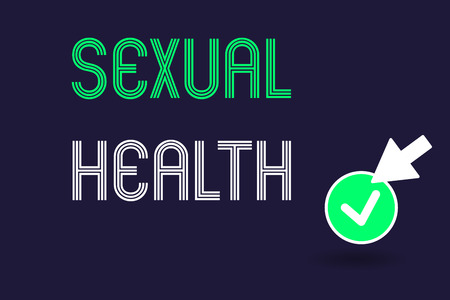 Conceptual hand writing showing Sexual Health. Business photo text Healthier body Satisfying Sexual life Positive relationships. Фото со стока