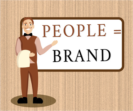 Word writing text People equal Brand. Business concept for Personal Branding Defining personality through the labels.