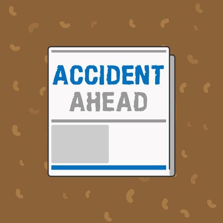 사고 앞서 보여주는 개념적 손 쓰기. 비즈니스 사진 텍스트 불행한 이벤트 준비 우회로 뒤 따르지 마십시오. 스톡 콘텐츠 - 107673626