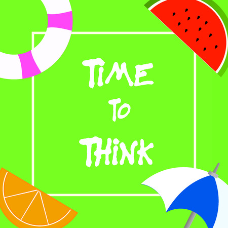 Text sign showing Time To Think. Conceptual photo Reconsider some things Reflection time Moment to ponder.