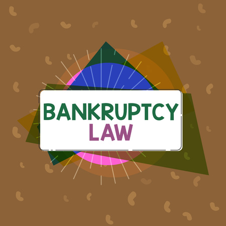 Conceptual hand writing showing Bankruptcy Law. Business photo text Designed to help creditor in getting the asset of the debtor. 免版税图像