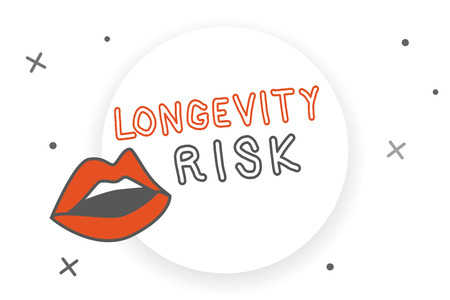 Writing note showing Longevity Risk. Business photo showcasing Potential threat due to increasing lifespan of pensioners.