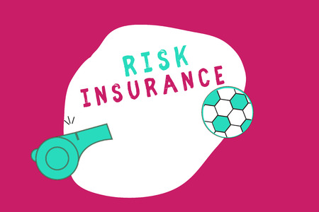 Conceptual hand writing showing Risk Insurance. Business photo showcasing The possibility of Loss Damage against the liability coverage. Banque d'images