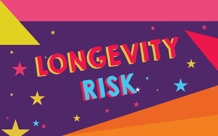 Handwriting text Longevity Risk. Concept meaning Potential threat due to increasing lifespan of pensioners. Stock Photo