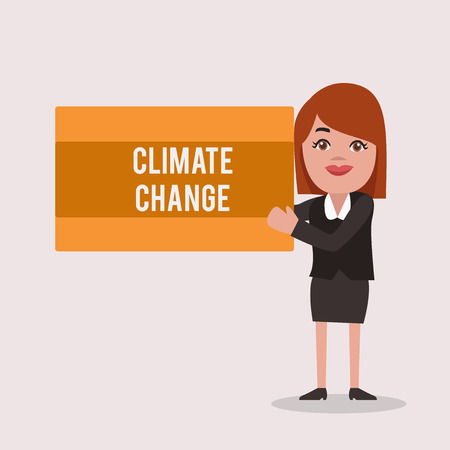 Handwriting text Climate Change. Concept meaning Increase in global average temperature Weather transformation.
