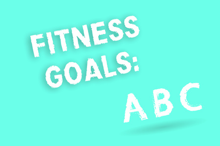 Text sign showing Fitness Goals. Conceptual photo Loose fat Build muscle Getting stronger Conditioning.