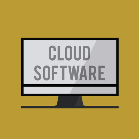 Handwriting text Cloud Software. Concept meaning Programs used in Storing Accessing data over the internet. Stock fotó