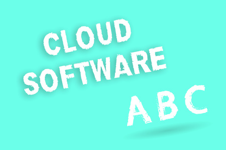 Text sign showing Cloud Software. Conceptual photo Programs used in Storing Accessing data over the internet. Фото со стока