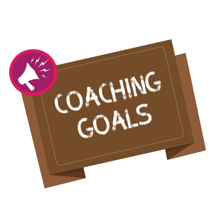 Conceptual hand writing showing Coaching Goals. Business photo showcasing Empowers individuals Encourages them to take responsibility.