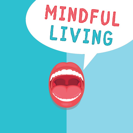 Word writing text Mindful Living. Business concept for Fully aware and engaged on something Conscious and Sensible.