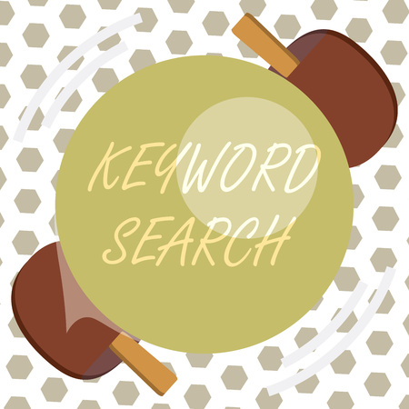 Word writing text Keyword Search. Business concept for Using word or term to look correct subject associated to it.
