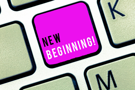 Handwriting text New Beginning. Concept meaning Different Career or endeavor Starting again Startup Renew.