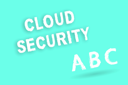 Text sign showing Cloud Security. Conceptual photo Protect the stored information safe Controlled technology. Stock Photo