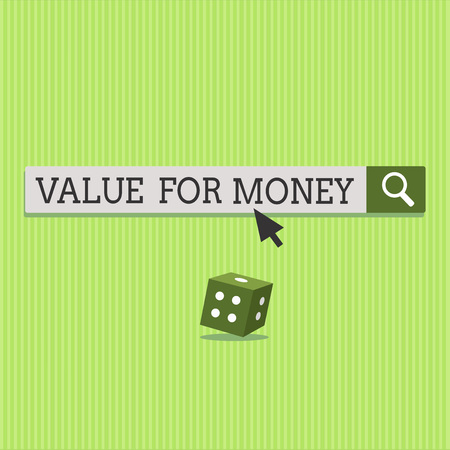 Text sign showing Value For Money. Conceptual photo reference to something is well worth the money spent on it. Imagens