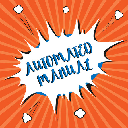 Conceptual hand writing showing Automated Manual. Business photo showcasing as trigger shift and it can switch between moods easily.