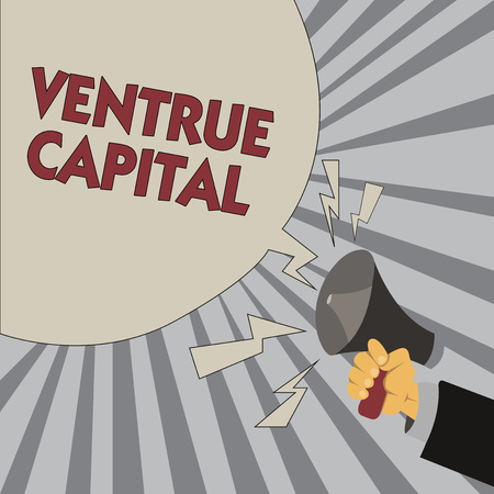 Writing note showing Ventrue Capital. Business photo showcasing financing provided by firms to small early stage ones.