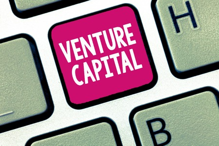 Conceptual hand writing showing Venture Capital. Business photo showcasing financing provided by firms to small early stage ones.