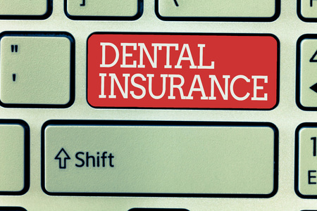 Word writing text Dental Insurance. Business concept for form of health designed to pay portion or full of costs.