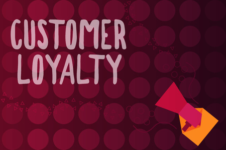 Word writing text Customer Loyalty. Business concept for result of consistently positive emotional experience. Stock Photo