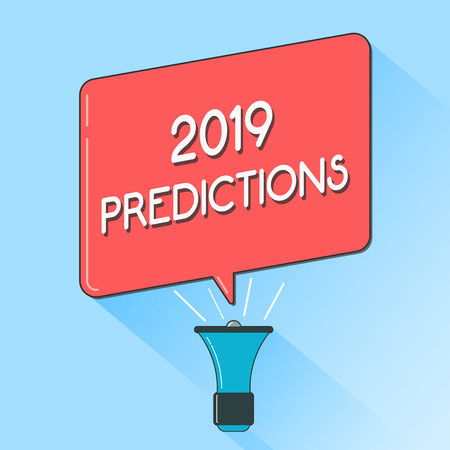 Word writing text 2019 Predictions. Business concept for list of things you feel that going to happen without proof.