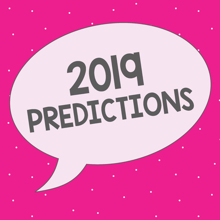 Handwriting text writing 2019 Predictions. Concept meaning list of things you feel that going to happen without proof. 版權商用圖片